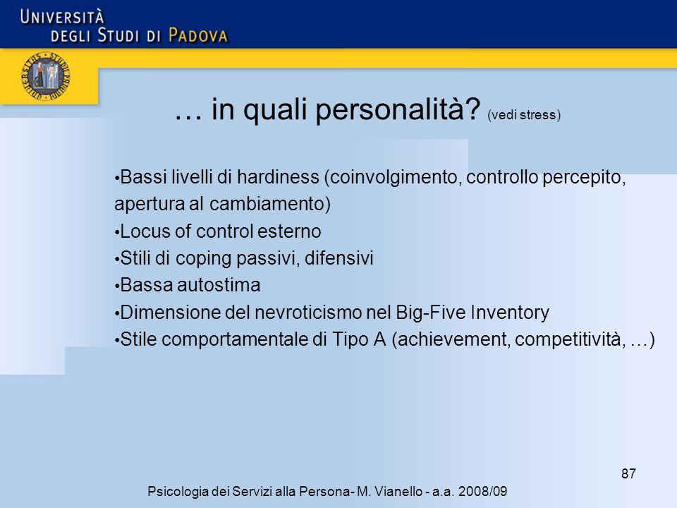 87 Psicologia dei Servizi alla Persona- M.Vianello - a.a.