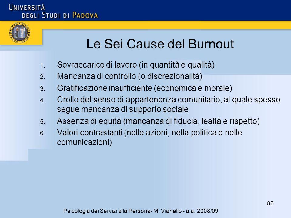88 Psicologia dei Servizi alla Persona- M.Vianello - a.a.