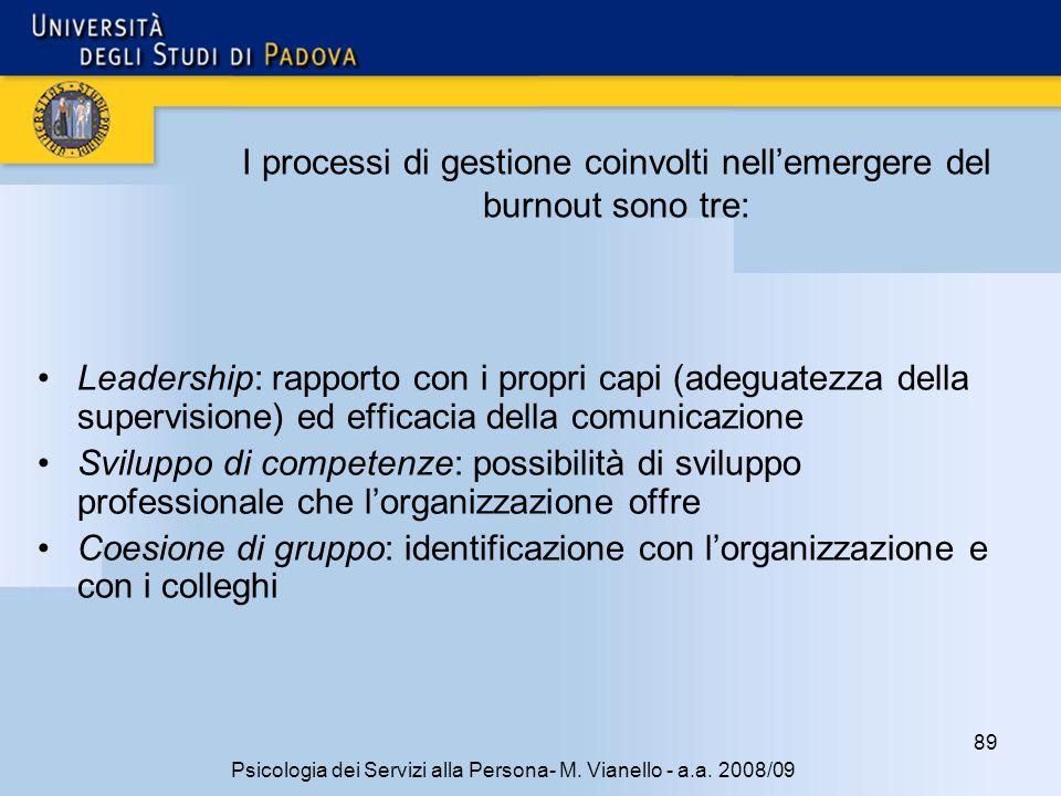 89 Psicologia dei Servizi alla Persona- M.Vianello - a.a.