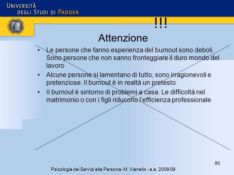 90 Psicologia dei Servizi alla Persona- M.Vianello - a.a.