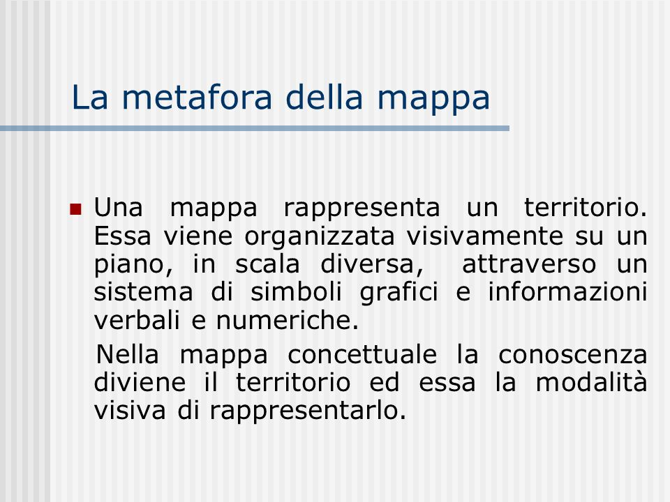 Tipologia Mappe cognitive Mappe mentali Mappe concettuali