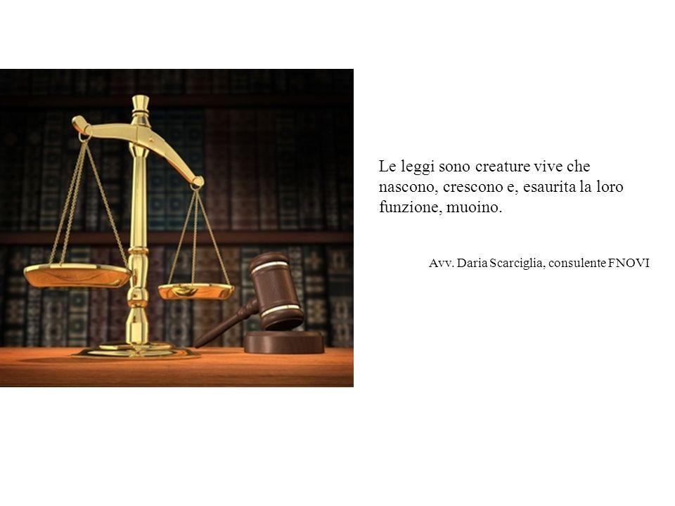 Le leggi sono creature vive che nascono, crescono e, esaurita la loro funzione, muoino. Avv. Daria Scarciglia, consulente FNOVI