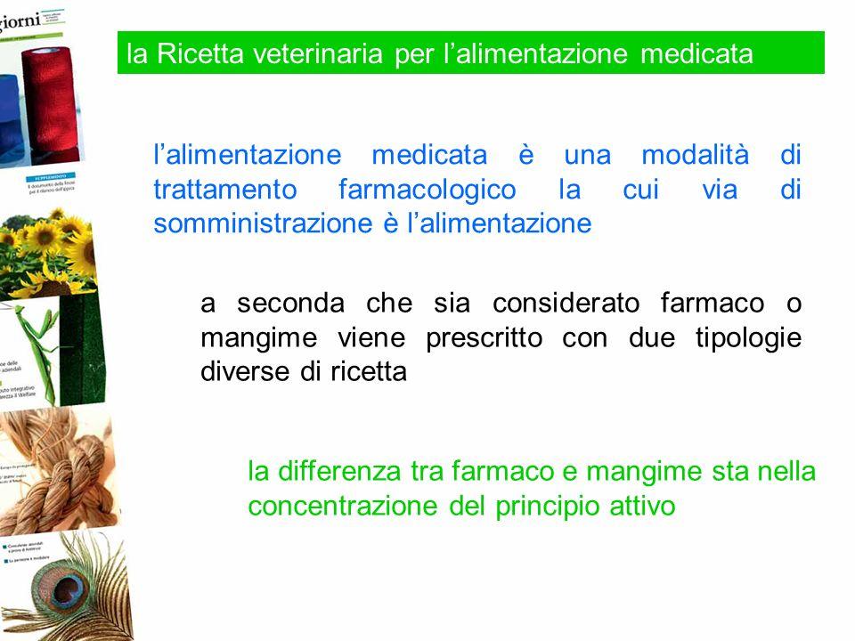 la Ricetta veterinaria per lalimentazione medicata lalimentazione medicata è una modalità di trattamento farmacologico la cui via di somministrazione