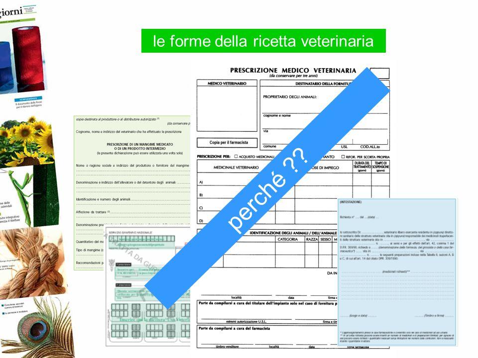 la Ricetta veterinaria in carta semplice non ripetibile 1 x 2 x 3 x 4 x 5 x il veterinario pubblico non ne riceve copia