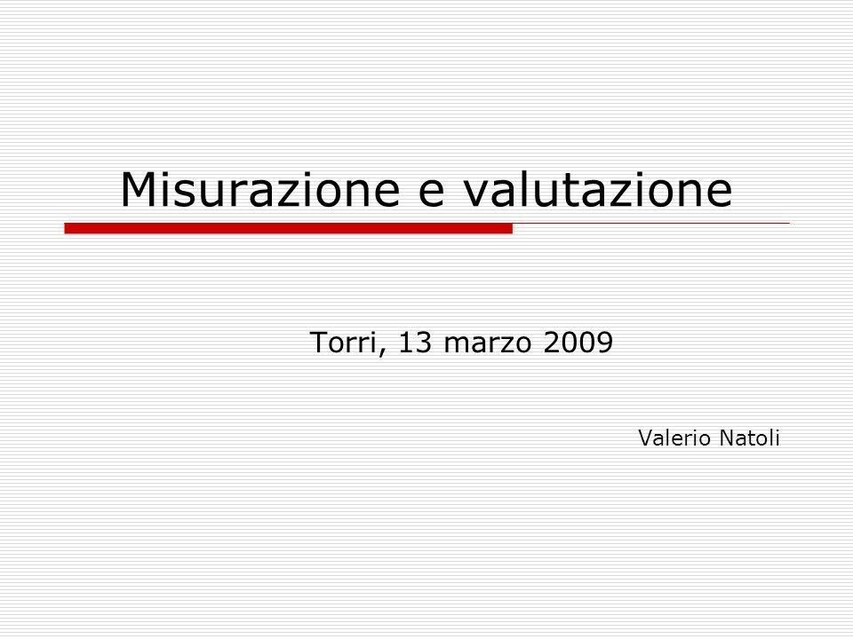 Misurazione e valutazione Torri, 13 marzo 2009 Valerio Natoli