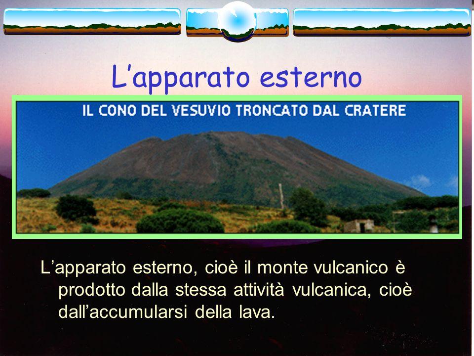Il cratere di un vulcano