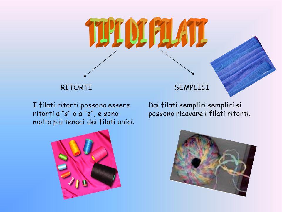 Il filato è un insieme di fibre tessili unite, disposte parallelamente e ritorte in modo da formare un filo continuo, che sarà poi adoperato per la co