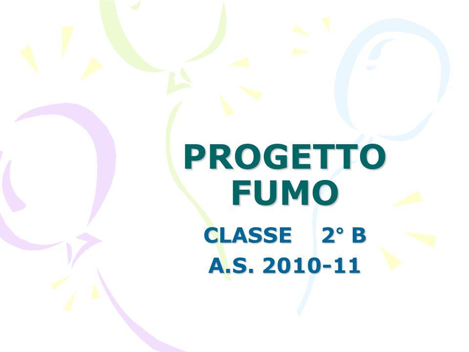 PROGETTO FUMO CLASSE 2° B A.S. 2010-11