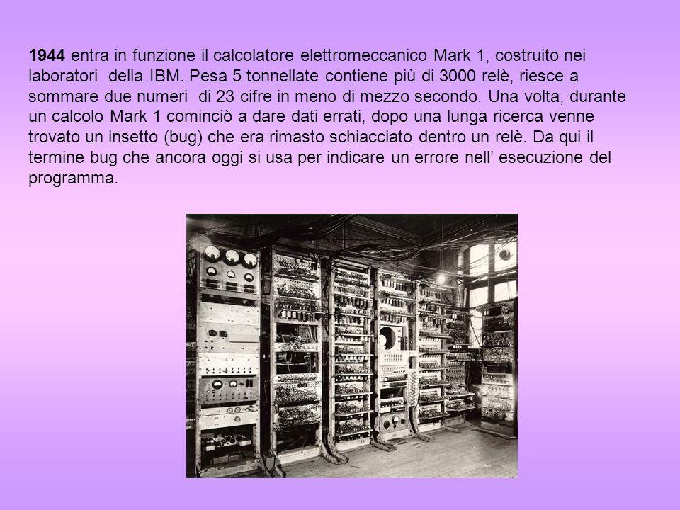 Nello stesso anno il matematico americano John Von Neumann teorizza il funzionamento dei computer moderni.