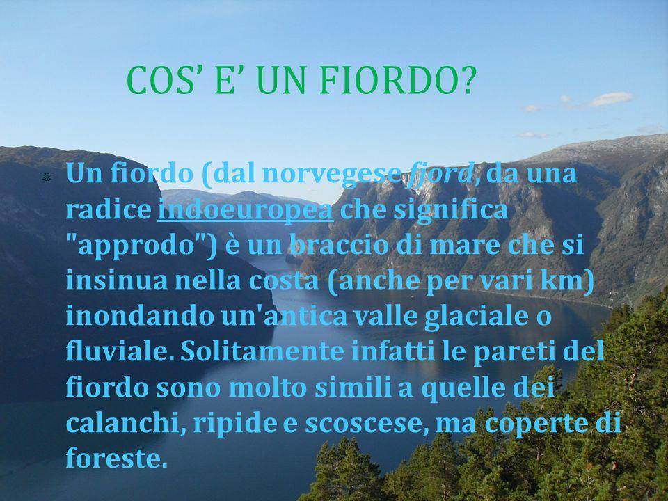 Un fiordo (dal norvegese fjord, da una radice indoeuropea che significa