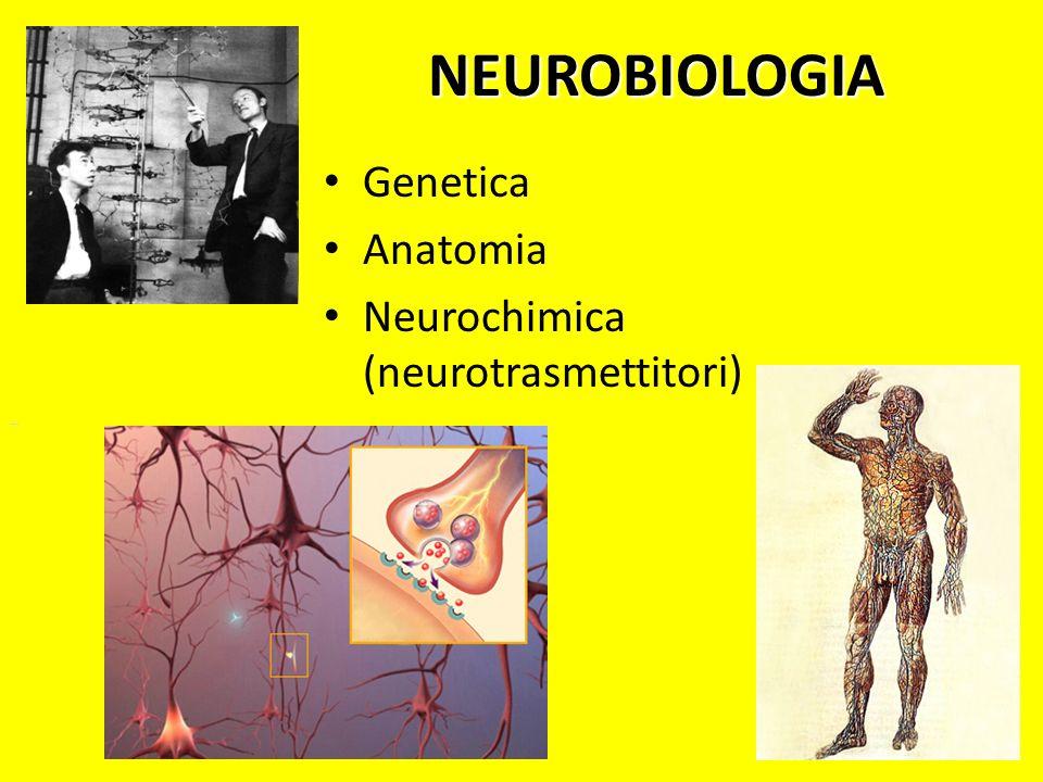NEUROBIOLOGIA Genetica Anatomia Neurochimica (neurotrasmettitori)