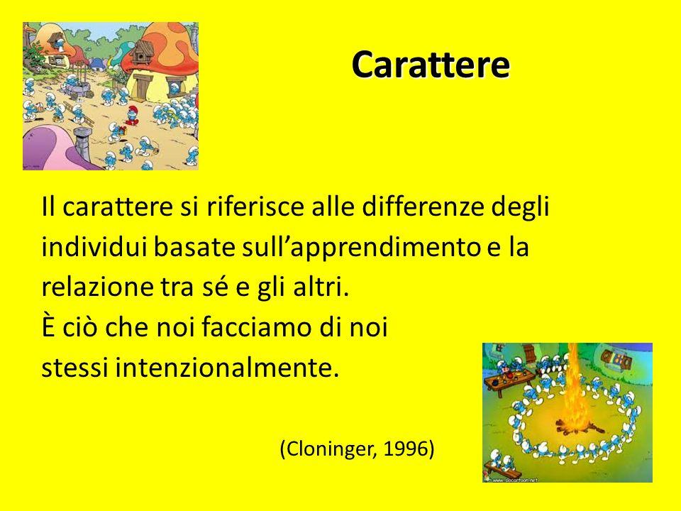 TEMPERAMENTO + CARATTERE = PERSONALITA