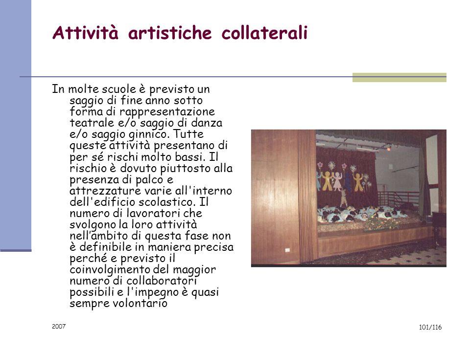 2007 100/116 Laboratorio Grafico-Artistico: rischi da valutare Attrezzature e macchine utilizzate: è possibile, in relazione alla tipologia di attrezz