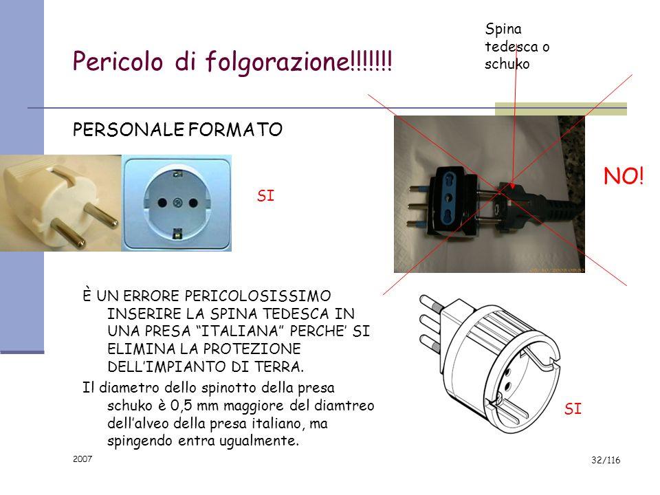 2007 31/116 IMPIANTO DI TERRA ? NO, GRAZIE