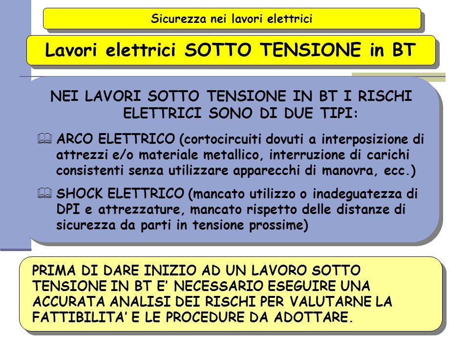 2007 37/116 Sicurezza nei lavori elettrici Lavori elettrici SOTTO TENSIONE in BT IL DPR 547/55 AMMETTE LAVORI SOTTO TENSIONE FINO A 1000 V PURCHE: & L