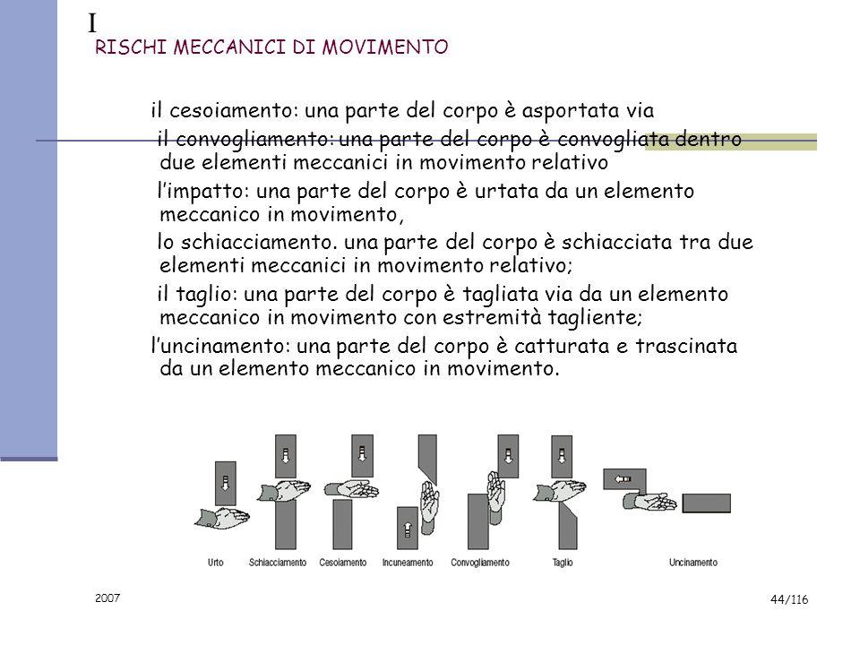 2007 43/116 IL RISCHIO MECCANICO