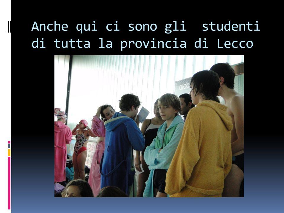 Anche qui ci sono gli studenti di tutta la provincia di Lecco