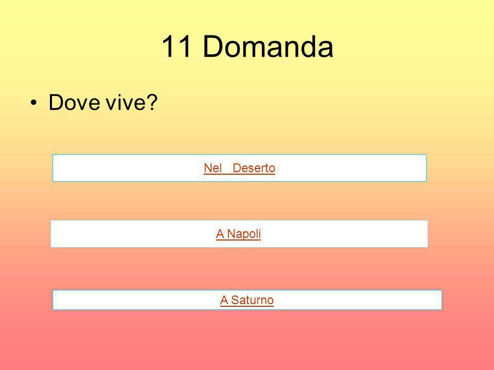 11 Domanda Dove vive? Nel Deserto A Napoli A Saturno