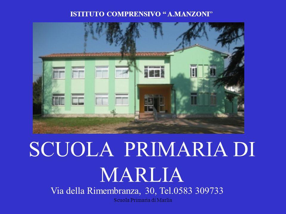 Scuola Primaria di Marlia ISTITUTO COMPRENSIVO A.MANZONI SCUOLA PRIMARIA DI MARLIA Via della Rimembranza, 30, Tel.0583 309733