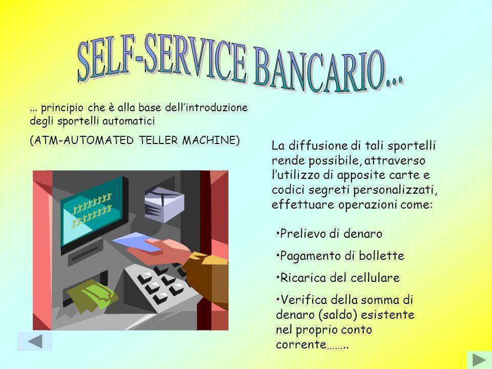 La banca è sempre più vicina al cliente attraverso Il SELF-SERVICE BANCARIO Il REMOTE BANKING