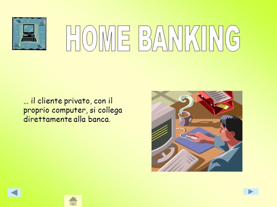 Con questo termine sintendono tutte le possibilità di contatto diretto a distanza tra banca e correntista senza la necessità che questi si presenti pe