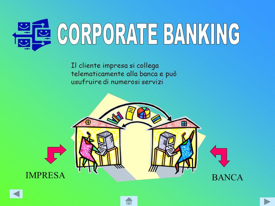 … il cliente privato, con il proprio computer, si collega direttamente alla banca.