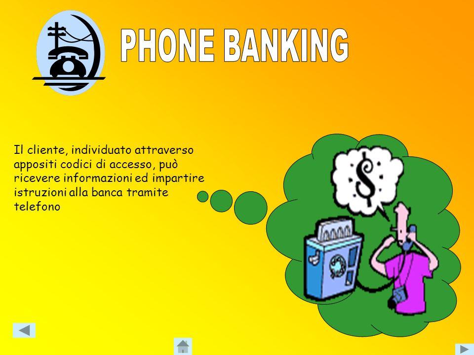 Il cliente impresa si collega telematicamente alla banca e può usufruire di numerosi servizi IMPRESA BANCA