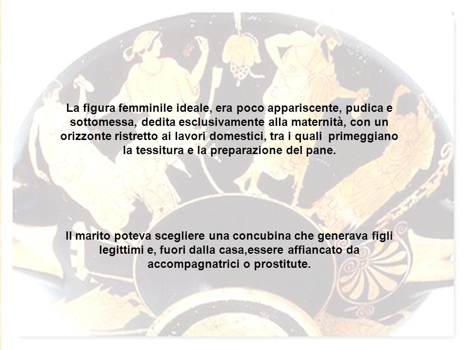 MOGLIE (damar o gynè): serviva esclusivamente per la creazione dei figli; aveva la protezione del marito e pochissimi diritti.