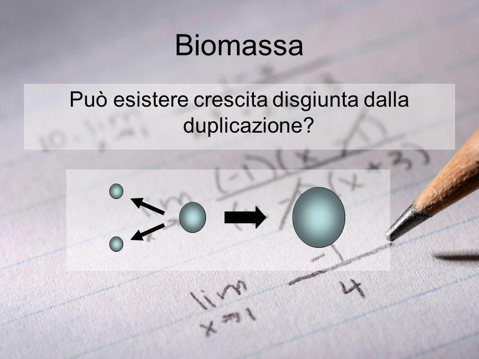 Biomassa Può esistere crescita disgiunta dalla duplicazione?