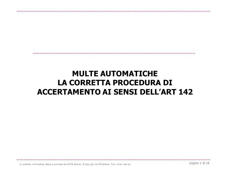 pagina 1 di 18 Un prodotto multimediale ideato e promosso da Giuffré Editore.