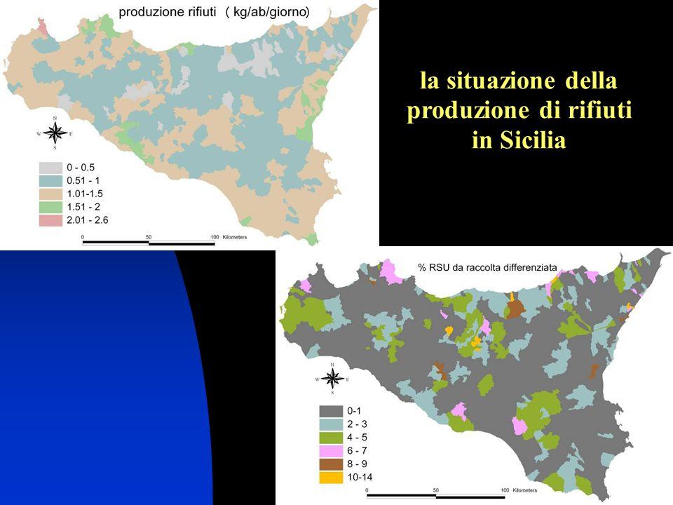 38 la situazione della produzione di rifiuti in Sicilia