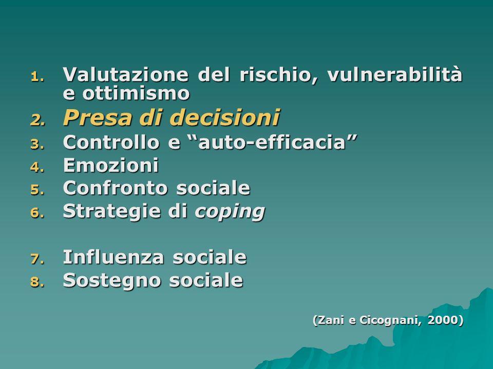 PARTE PRIMA PROCESSI PSICOLOGICI e PSICOSOCIALI coinvolti nelladozione di comportamenti di SALUTE