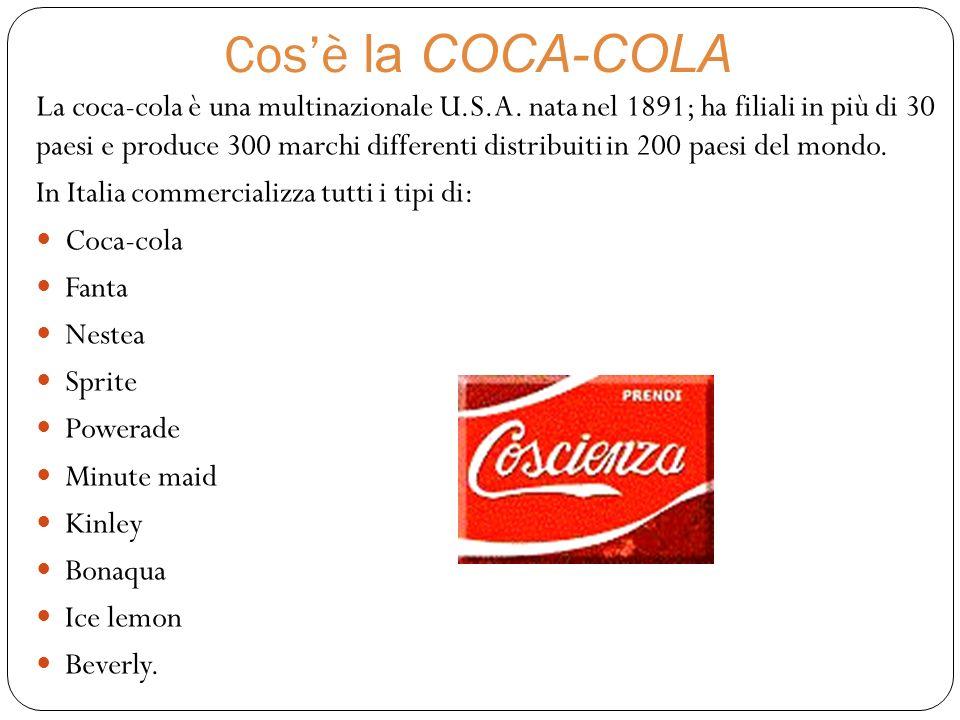Cosa succede in COLOMBIA… In Colombia e in India dove ci sono grandi stabilimenti che producono coca-cola,sono state denunciate terribili storie di sfruttamento dellambiente e dei lavoratori.