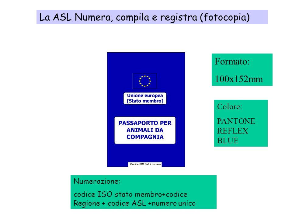 Numerazione documenti: IT09 + Identificativo ASL ( da 101 a 112)+000+progressivoASL (15 caratteri) Per esempio, il primo passaporto della ASL 1 sarà: