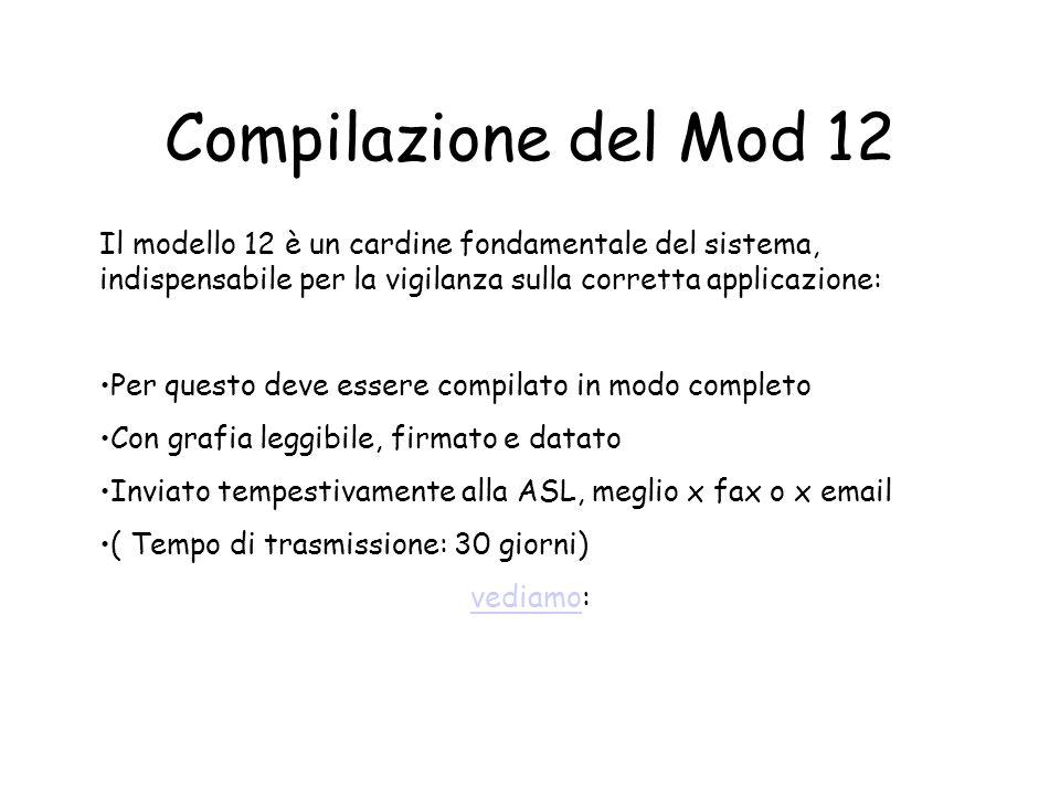 Un po di attenzione sul Mod.12Mod.12
