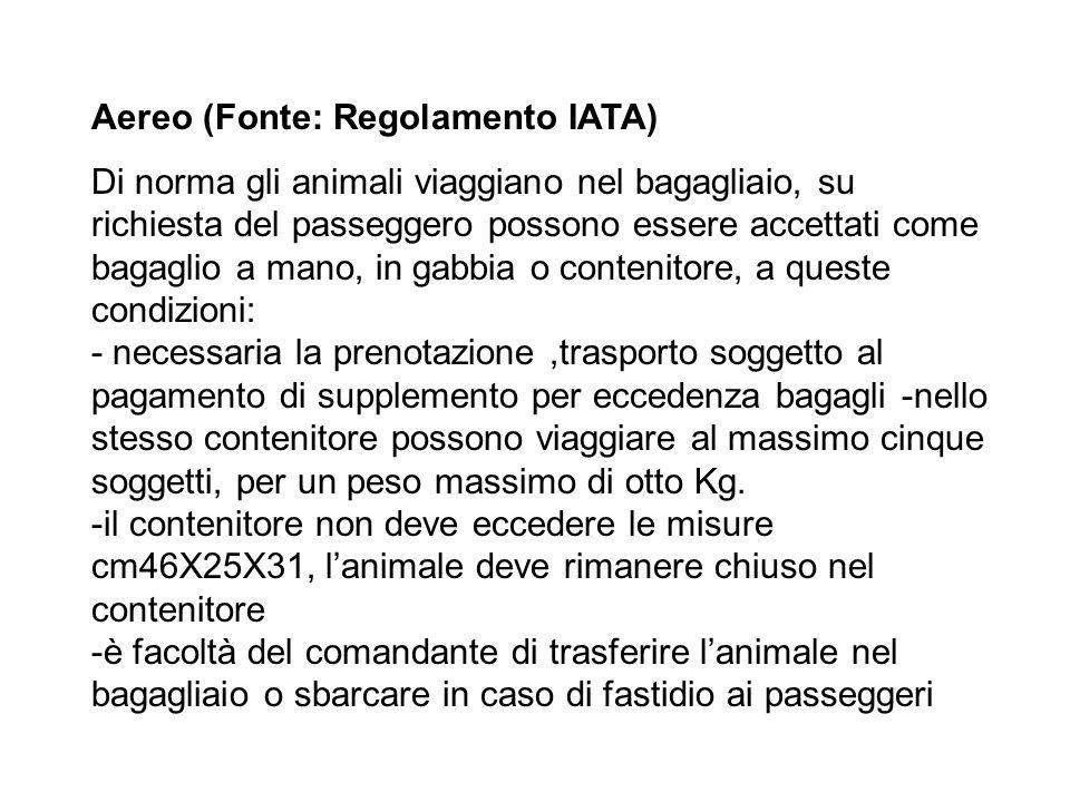 Norme e regolamenti Veicoli a motore (Fonte: Nuovo Codice della Strada ) Ad eccezione dei veicoli autorizzati per il trasporto professionale di animal