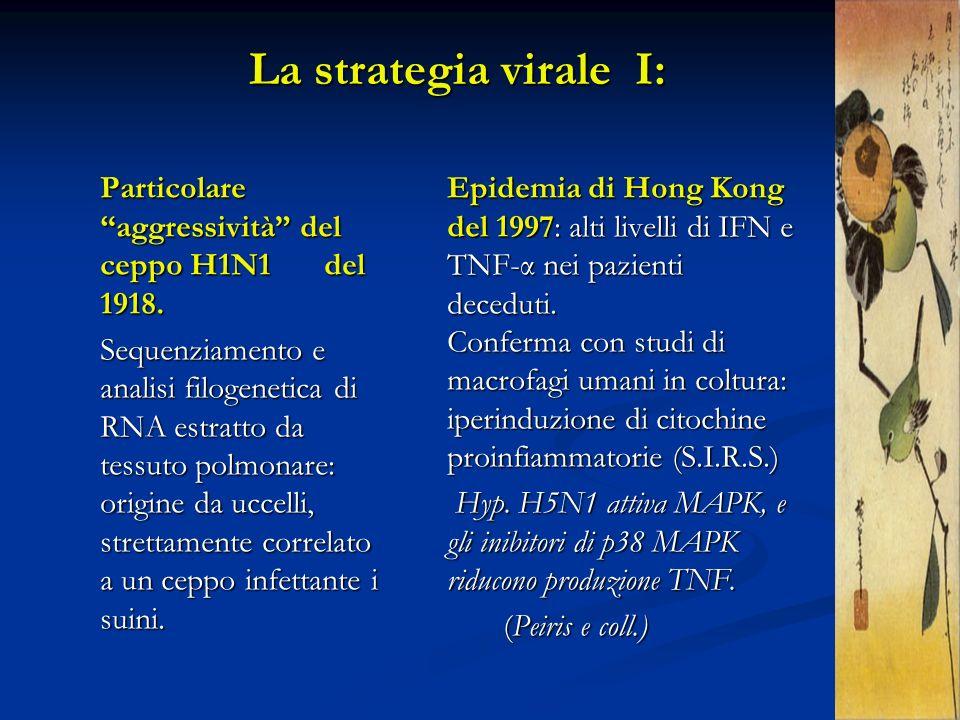 Particolare aggressività del ceppo H1N1 del 1918. Sequenziamento e analisi filogenetica di RNA estratto da tessuto polmonare: origine da uccelli, stre