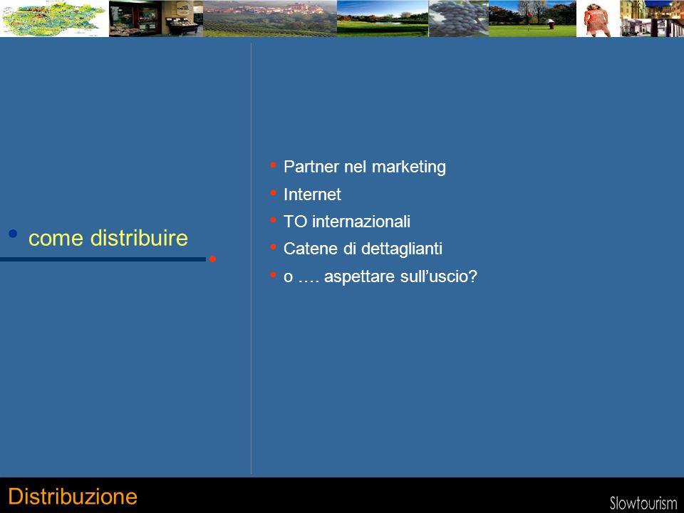 come distribuire Partner nel marketing Internet TO internazionali Catene di dettaglianti o …. aspettare sulluscio? Distribuzione