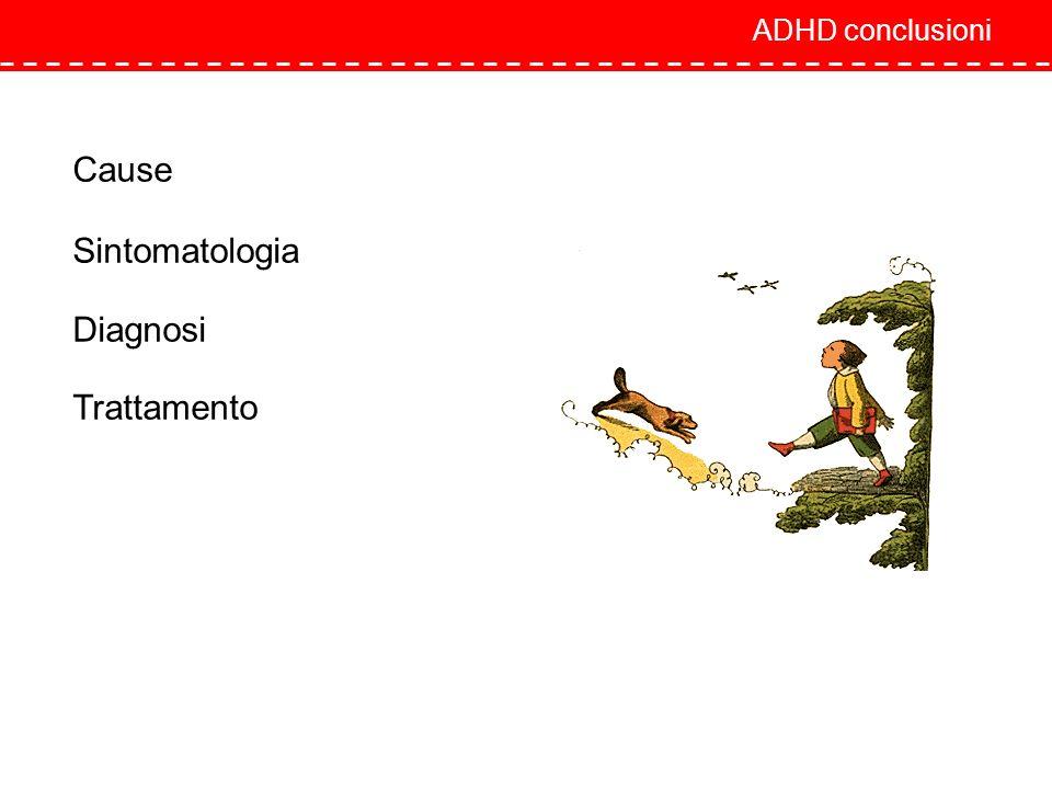 ADHD conclusioni Cause Sintomatologia Diagnosi Trattamento