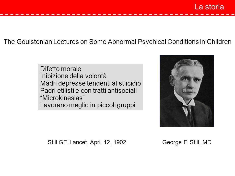 The Goulstonian Lectures on Some Abnormal Psychical Conditions in Children Difetto morale Inibizione della volontà Madri depresse tendenti al suicidio