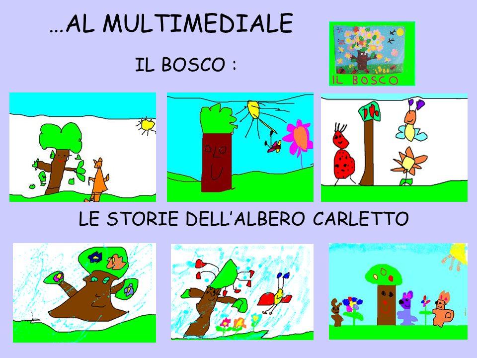 …AL MULTIMEDIALE LE STORIE DELLALBERO CARLETTO IL BOSCO :