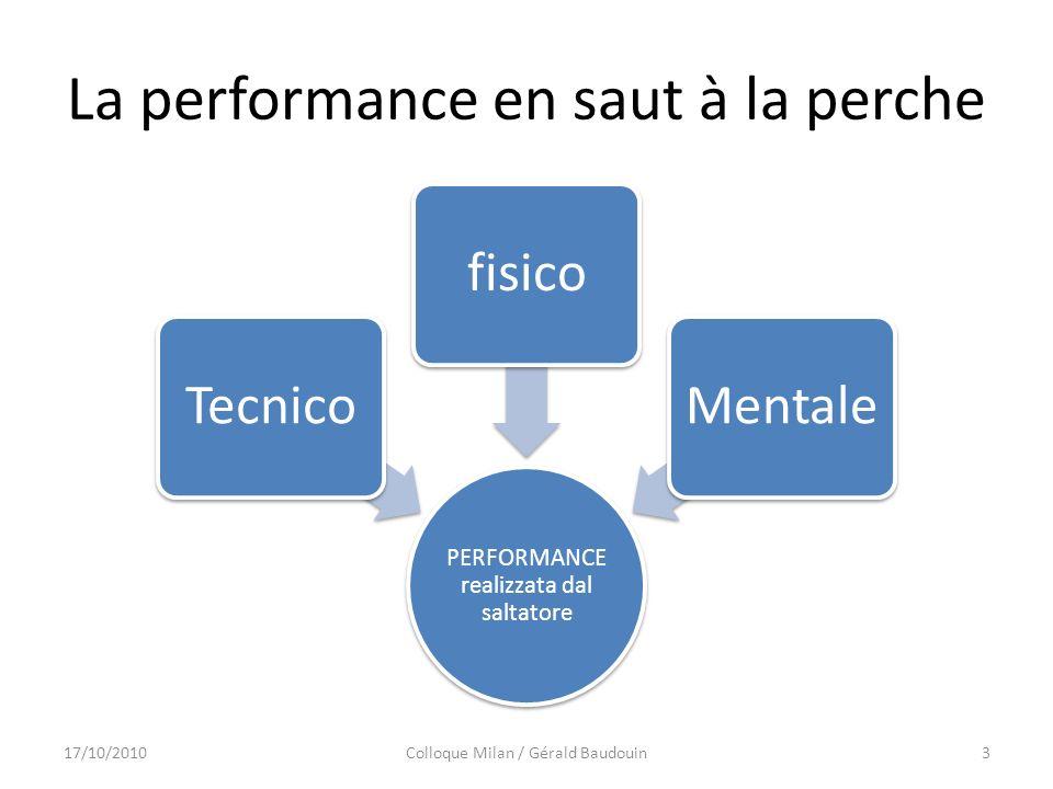 La performance en saut à la perche PERFORMANCE realizzata dal saltatore TecnicofisicoMentale 17/10/2010Colloque Milan / Gérald Baudouin3