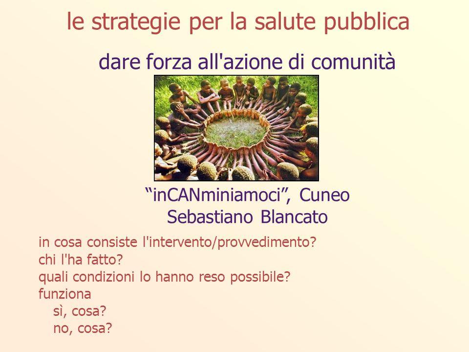 dare forza all azione di comunità inCANminiamoci, Cuneo Sebastiano Blancato in cosa consiste l intervento/provvedimento.