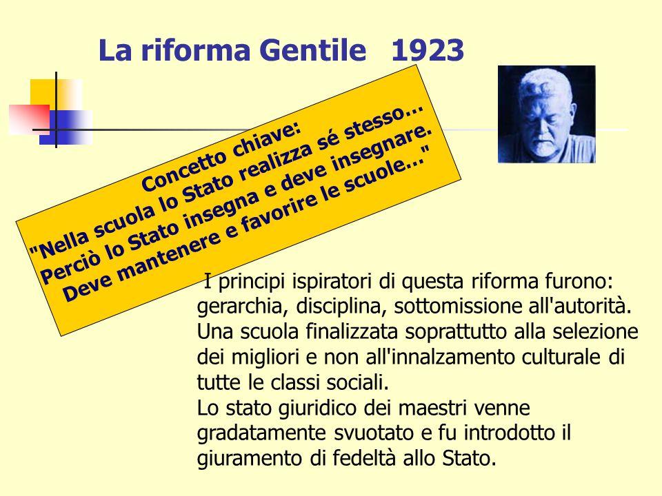 INSEGNAMENTO DELLA RELIGIONE FINO AL CONCORDATO La legge 4 giugno 1911, n. 417 Daneo-Credaro (Ministri P.I.) sancì il passaggio della scuola elementar