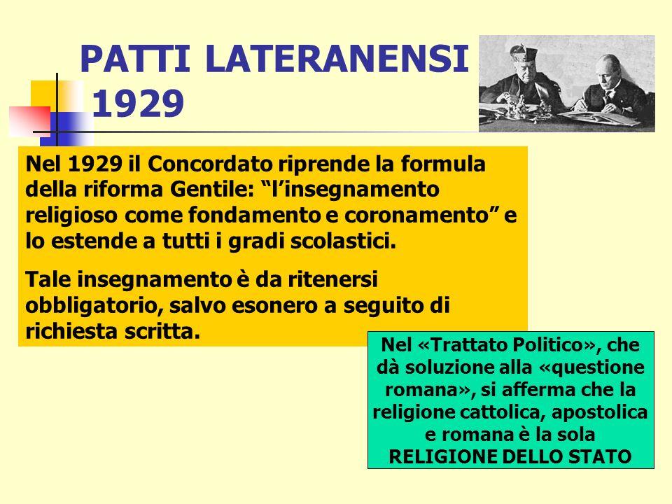 La riforma scolastica di Gentile fu promulgata con regio decreto ottobre 1923, n. 2185. In esso veniva posto