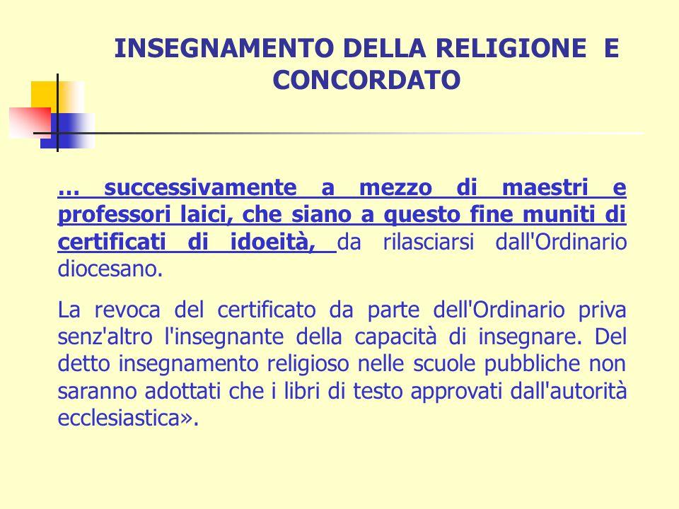 Legge n. 810 del 27 maggio 1929, Art. 36 «L'Italia considera fondamento e coronamento dell'istruzione pubblica l'insegnamento della dottrina cristiana