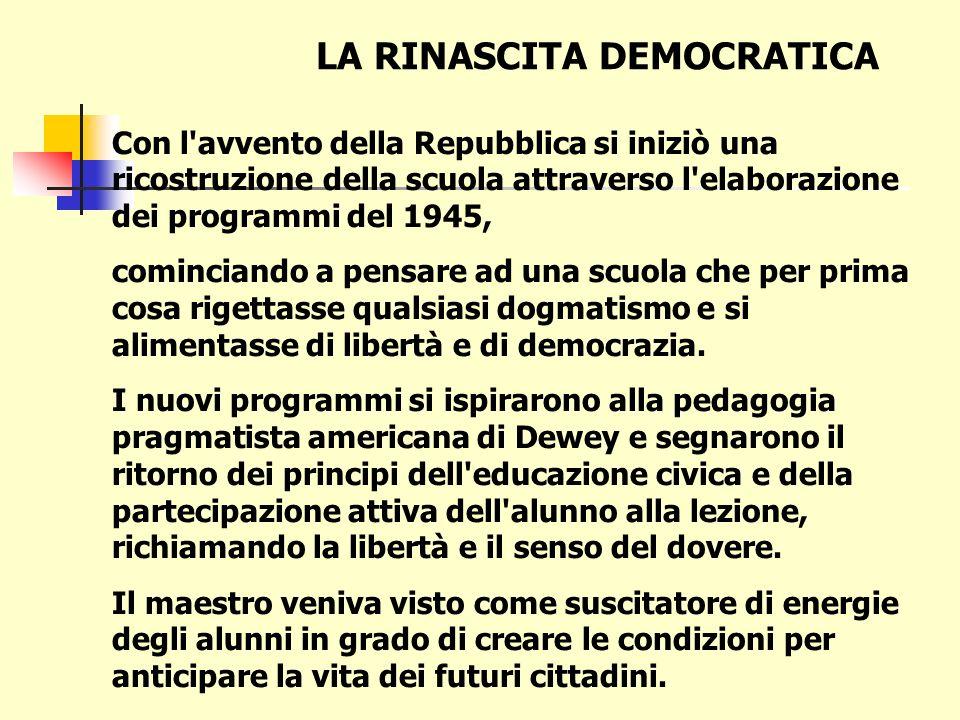 INSEGNAMENTO DELLA RELIGIONE NELLA SCUOLA DEMOCRATICA Carta costituzionale Art. 7: «Lo Stato e la Chiesa cattolica sono, ciascuno nel proprio ordine,