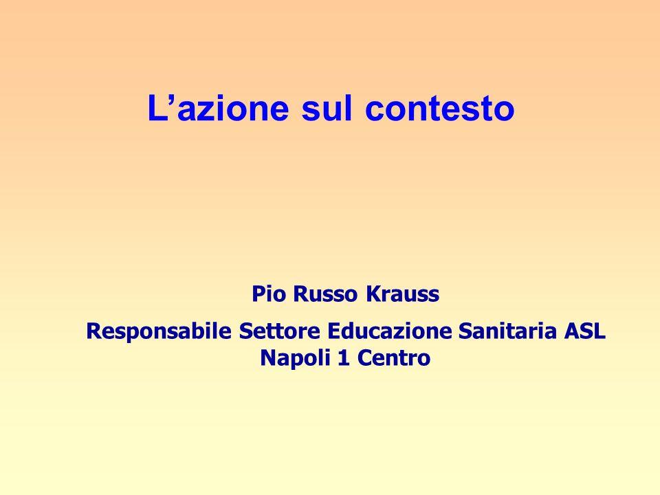 Lazione sul contesto Pio Russo Krauss Responsabile Settore Educazione Sanitaria ASL Napoli 1 Centro