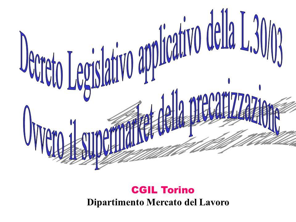 CGIL Torino Dipartimento Mercato del Lavoro