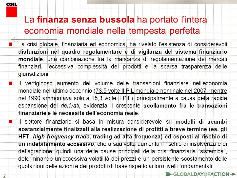 13 La TTF può produrre un gettito fiscale consistente Le TTF possono produrre un gettito fiscale consistente.